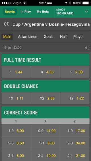 World Cup betting with bet365