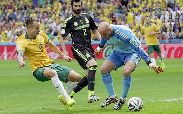 Australia vs Spain Adam Taggart