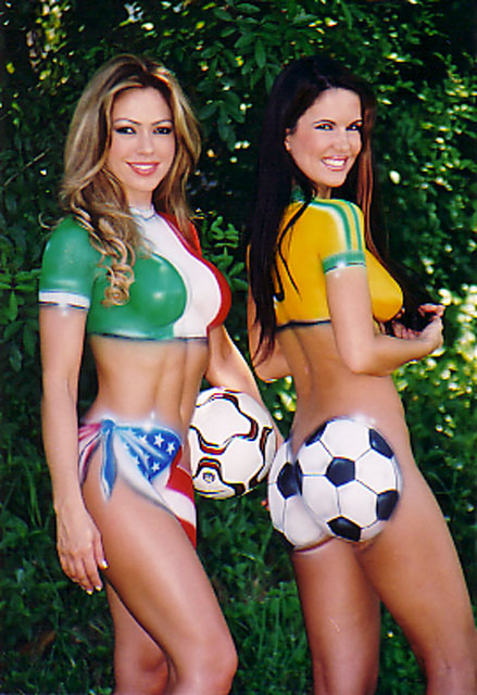 sexy naked women body paint hot sports babes