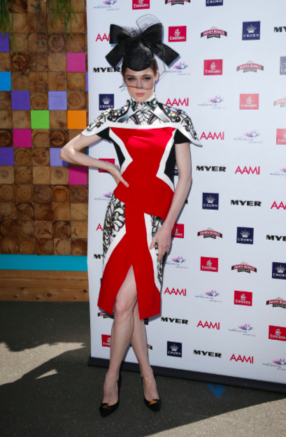 coco rocha hot sports babe melbourne cup