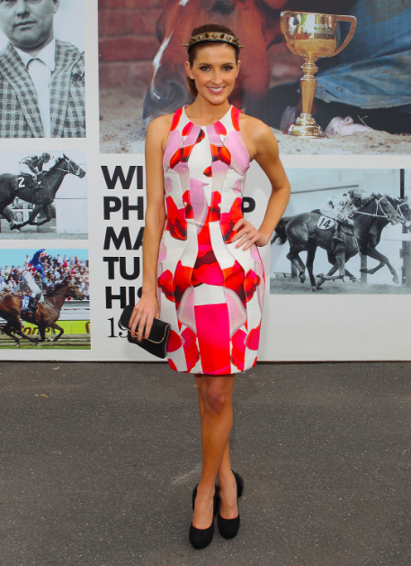 hot sports babe Louise Roe melbourne cup