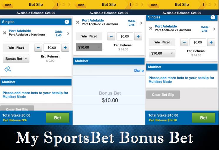 SportsBet Bonus Bet