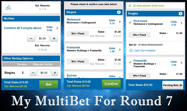Multibet picks round 7 AFL 2015