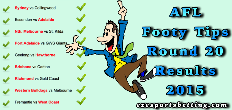 Fortuna's Round 20 AFL Footy Tips results