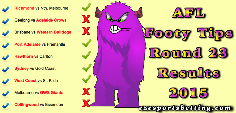 round 23 footy tips results