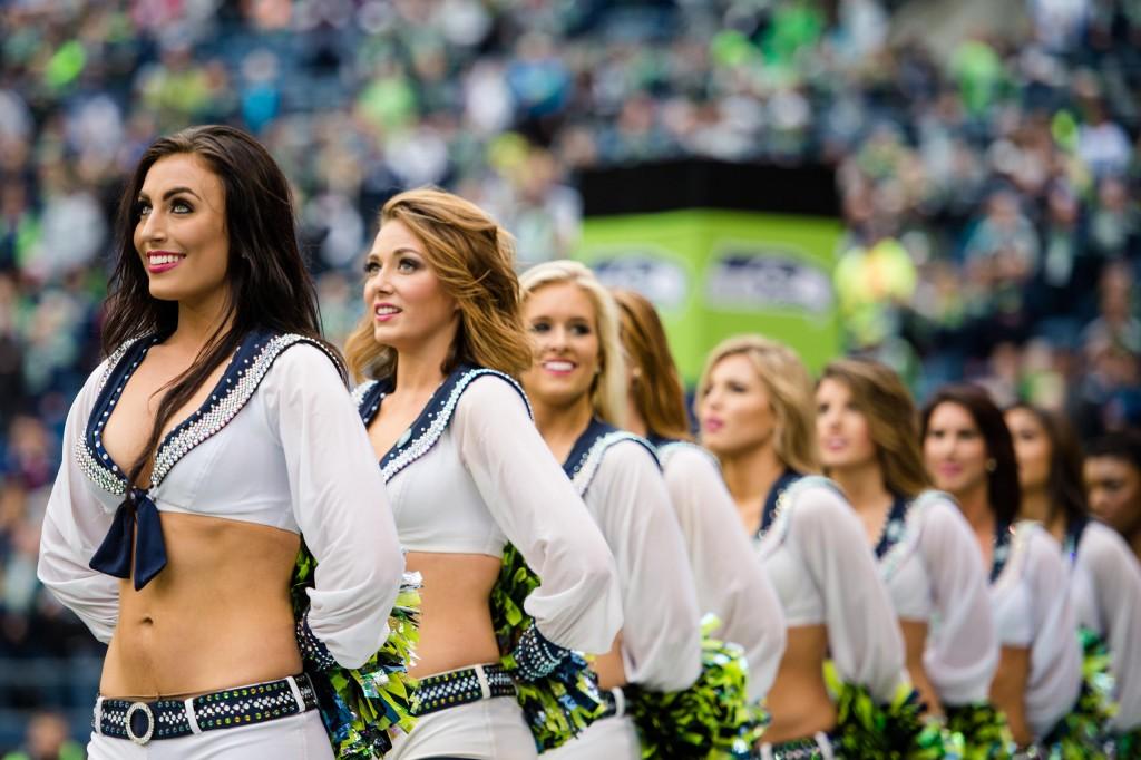 hot sport babes Sea Gals cheerleaders