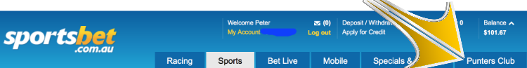 join sportsbet punters club