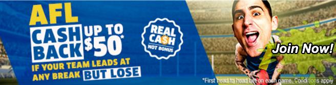 sportsbet cash back