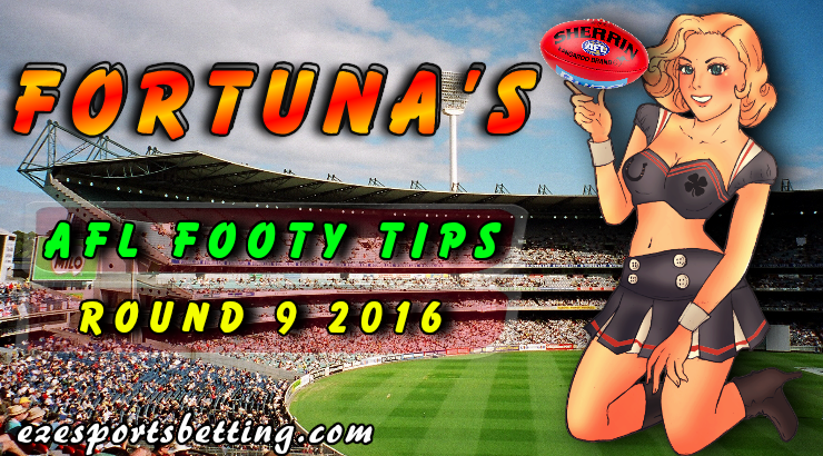 AFL Footy Tips Round 9 2016 Fortuna