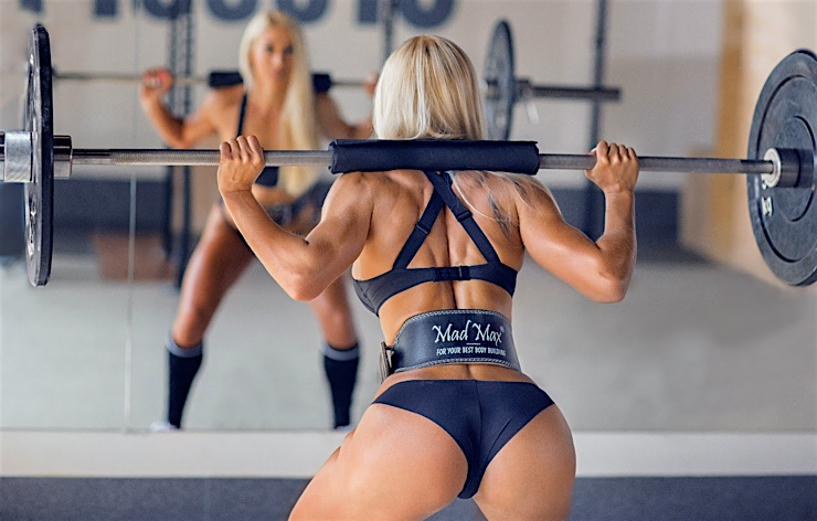 Sexy Hot Sports Babes Gym Junkies tight back muscles nice butt
