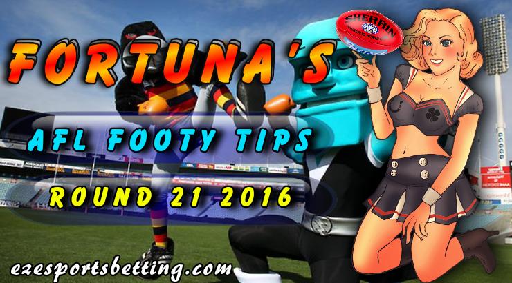 Fortuna's AFL Round 22 Tips 2016