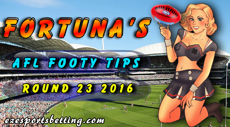 Fortuna's AFL Round 23 Tips 2016