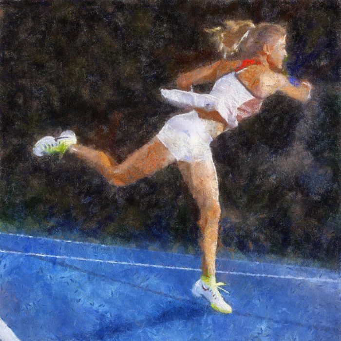 Eugenie Bouchard Painting