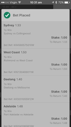 AFL Round 3 2017 Bet365 Multi