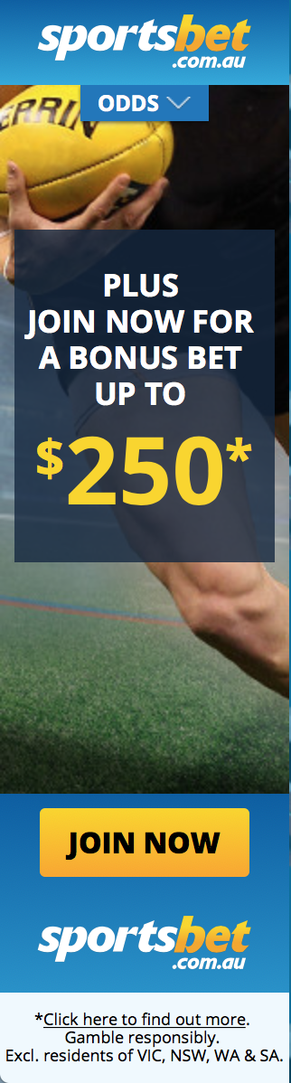 Sportsbet AFL best odds