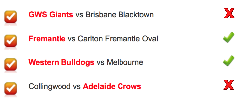 AFLW Round 7 2018 Results