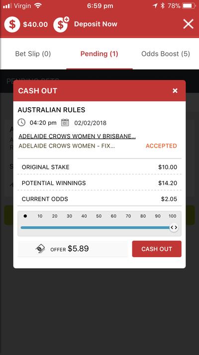 Cash out betting ladbrokes jobs peta pantai muara bettingexpert